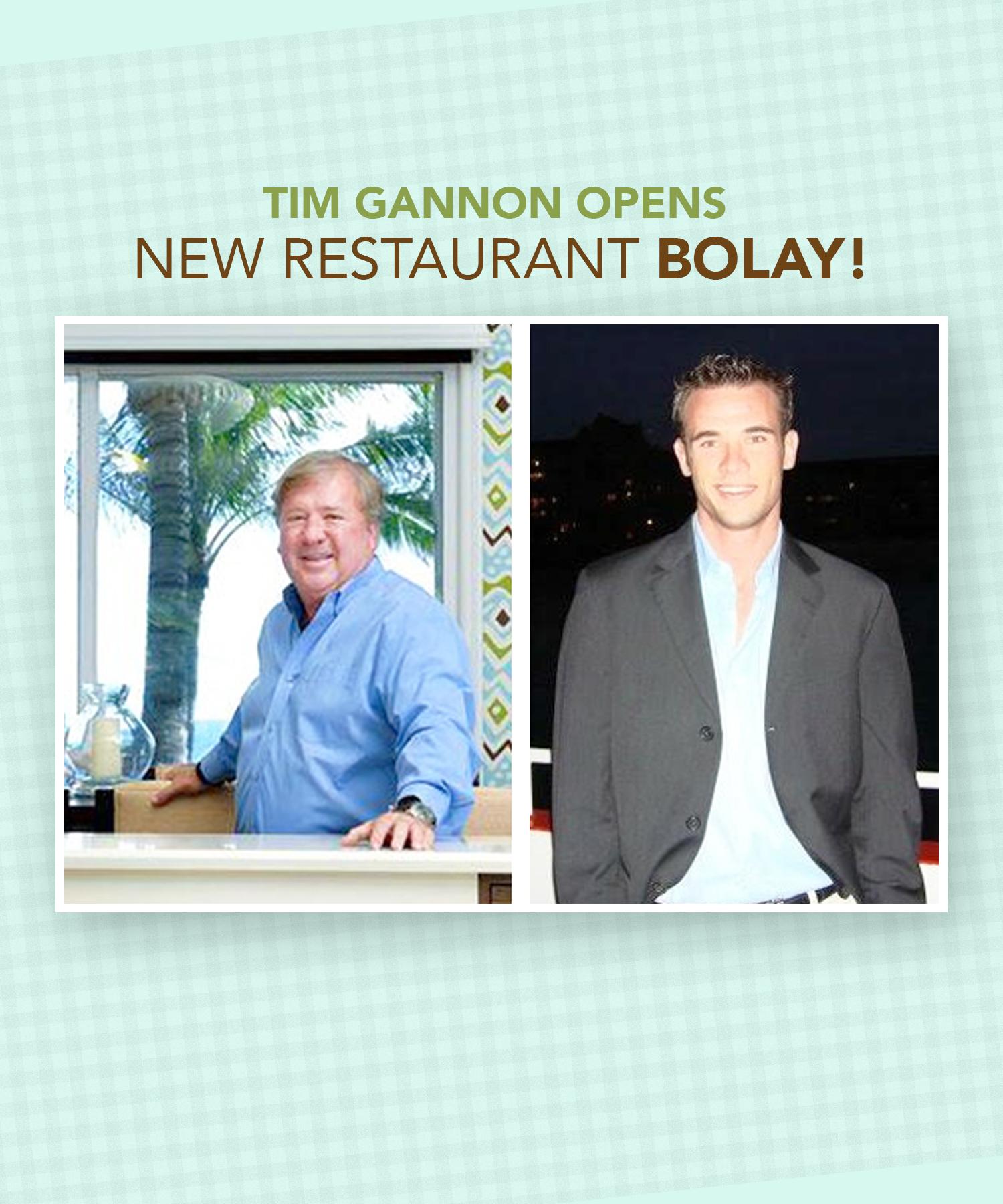 Palm Beach Resident Tim Gannon Opens New Restaurant BOLAY ...
