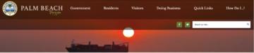 Town of Palm Beach Website Lists Updates